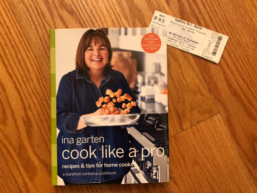 Ina Garten book tour Boston